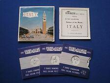 VIEW-MASTER  - Italy   3 reel set     1950s