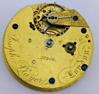 High Quality Fusee Pocket Watch movement by Joseph Player For Repair (K17)