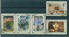Russie - USSR 1979 - Michel n. 4866/70 - Peintures de fleurs