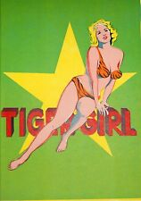 Original Mel Ramos 1963 Lithograph -- Tiger Girl -- from 1 Cent Life