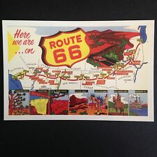 Here We Are On Route 66 Postcard
