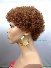 COLOR CHOICE!  QUALITY UNISEX Short Afro Wig for Women and Men For Every Day *