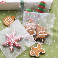 100 x Self Adhesive Plastic Cellophane Cookies Candy Package Gift Bags Party NEW