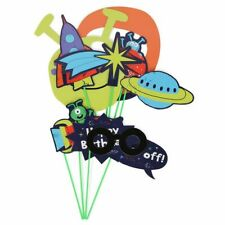 Space photo props - pack of 10; Booth, Children, Fun Party, pose, Star, Ship UFO