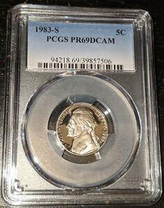 1983 S 5C Jefferson Nickel Proof PCGS PR69DCAM