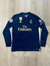 Sergio Ramos Soccer Jersey Long Sleeve Real Madrid Away Large