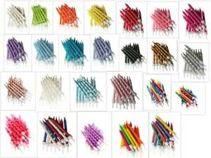 12 Glitter Candles & Holders - 7.5cm Birthday Party Cake Topper Decoration Pick