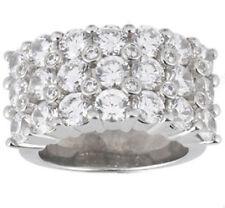 5.64 carat Round Diamond 3 row Wedding Ring Mens 14K White Gold Band Si1 clarity