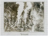 Gr. Orig-Pressephoto, 1. Weltkrieg Fliegeraufnahme brennendes Tarnopol um 1917