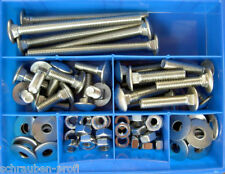 75 Teile Stainless Steel Carriage Bolt Assortment M8 Din 603