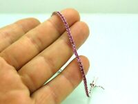 Turkish Handmade Jewelry 925 Sterling Silver Ruby Stone Women Bracelet