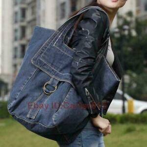 Large Capacity Women's Hobo Bag Shoulder Bag Demin Totes Bag Travel Handbag MOON