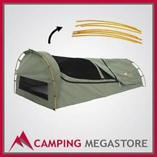 "OZTRAIL ""MITCHELL"" KING SIZE CANVAS CAMPING SWAG"