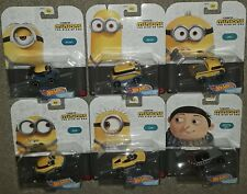 Hot Wheels Minions Rise of Gru character car set of 6 new sealed kevin otto carl