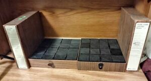 Lot of 2 Bell & Howell & Omega 16 Slide Cube Cartridge Library