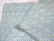 Laura Ashley Blue Green Mini Floral Cotton 2-Pc King Flat and Fitted Sheets