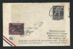 1946 HOLLAND rocket mail card - de Bruijn, HILVERSUM - EZ 50C1