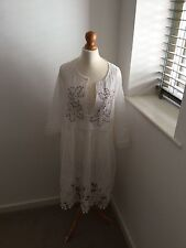 BN Stunning Embroidered, Bobbled And Pleated Italian Dress Large Size