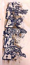 Del Sol Tribal Primitive Alaska White Color Changing Mens T-Shirt Adult Small