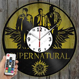 LED Clock Supernatural Vinyl Record Clock Art Decor Original Gift 4131