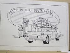 Brooklin Club Deutchland Plakat, DIN A 3, 42 x 30 cm, in der Mitte geknickt