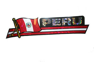 3 Peru South America Lima Flags Patches Elegant Sew-On Iron-On Set 0958