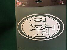 "NFL San Francisco 49 er's  8""X8"" White Decal"