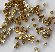 VINTAGE RHINESTONE SEW ON EMBELLISHMENTS TOPAZ ROSE MONTEES GERMANY • 9ss
