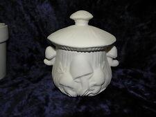 Ceramic Ready to Paint Bisque Mushroom Sugar Bowl