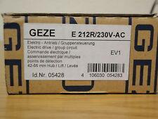GEZE MOTEUR fenstermotor oberlichtöffner E 212 R 230 volts argent 005428