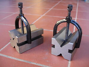 2Pce (A Pair) V-Block With Clamp Set