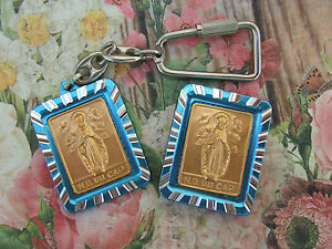 VINTAGE Catholic OUR LADY OF THE CAPE Medal GIFT SET Keychain and magnet