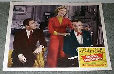 ROYAL WEDDING 11x14 FRED ASTAIRE/JANE POWELL/PETER LAWFORD original lobby card