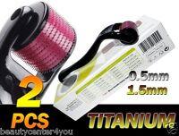 540 Titanium Micro Needle Roller Kit (0.5 &1.5mm) Anti-aging,Derma Scars,Acne