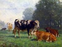 PAINTING LANDSCAPE RURAL STUDY VOLTZ COWS PASTURE POSTER ART PRINT BB12822B