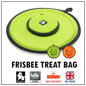 Dog Frisbee Treat Bag Toss Truelove Pet Puppy Training Orange Yellow 2 Colours