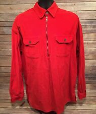 Vintage Marlboro Unlimited Men's Size XL Red Rare Heavy Corduroy 1/2 Zip Jacket