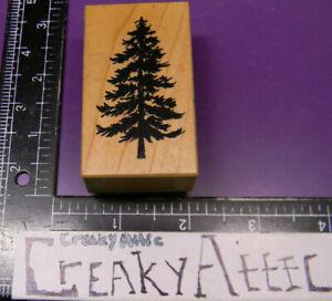 PSX D-1163 PINE TREE FOREST TALL SCENE OPEN RUBBER STAMP CREAKYATTIC