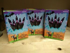 3 HOLIDAY LIVING 100ct 20.62-ft PURPLE Mini Plug-In Christmas string lights NEW