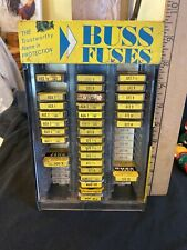 New ListingVtg Buss Fuses Metal Display Cabinet Vintage With Contents Advertising