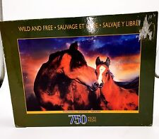 Sure-Lox Wild and Free, Tenderness 750 Piece Puzzle Horses Foal New Factory Seal