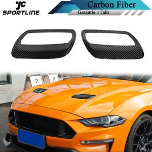 Carbon Front Motorhaube Lufthutzen Passt für Ford Mustang Lufteinlässe Abdeckung