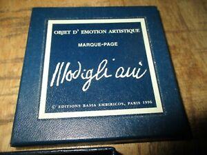 Rare marque page collector métal en coffret-Mogidigliani-Edition Basia 1996