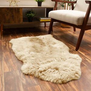 Flokati Shaggy Wool Rug Large Faux Fur Sheepskin Rug Fluffy Mat Non-Slip Carpet