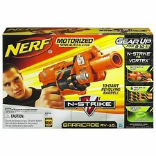 Brand New NERF N-Strike BARRICADE RV-10 Dart BLASTER Rare GEAR UP