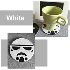 1x Star Wars Cup Drinks Holder coffee felt Mat Tableware Placemat Black/White ly