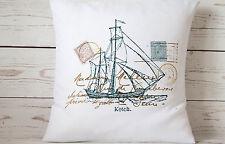 "Ketch - 16"" Housse de Coussin Nautique/Coastal shabby vintage chic-UK Handmade"