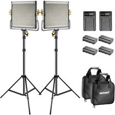 Neewer Bi-color LED 480 Video Light and Stand Kit with Battery and Charger...