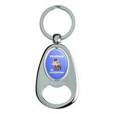 Centaur Center of Attention Funny Humor Spinning Oval Bottle Opener Keychain