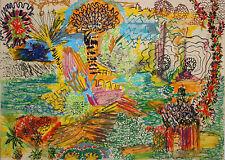 VINCENT NARDONE-NJ Modernist-Original Signed Pastel Drawing-Fantasy Landscape